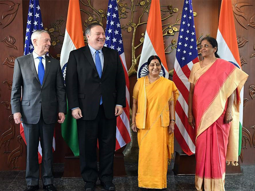 """India, US hold """"2+2 dialogue"""" on diplomatic, security issues"""