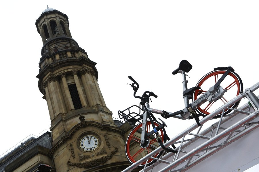 China's Mobike suspends operation in Manchester due to vandalism