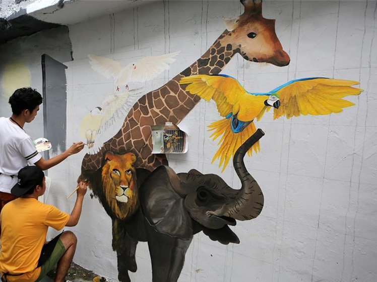 2018 Art in Island Mural Competition held in Quezon City, the Philippines