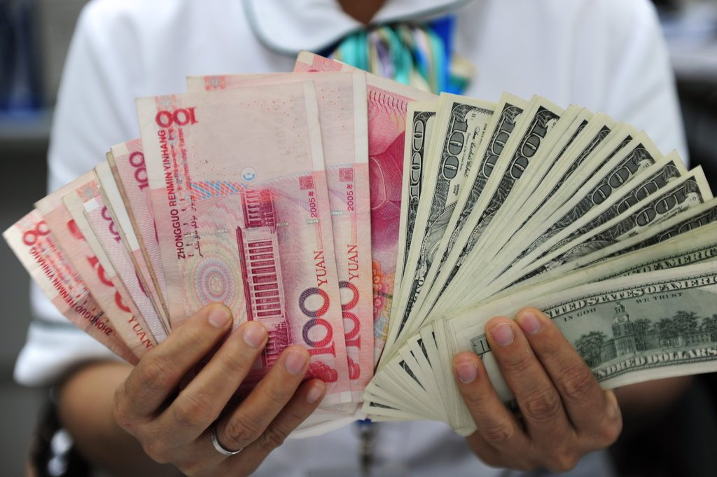 China's forex reserves fall in August