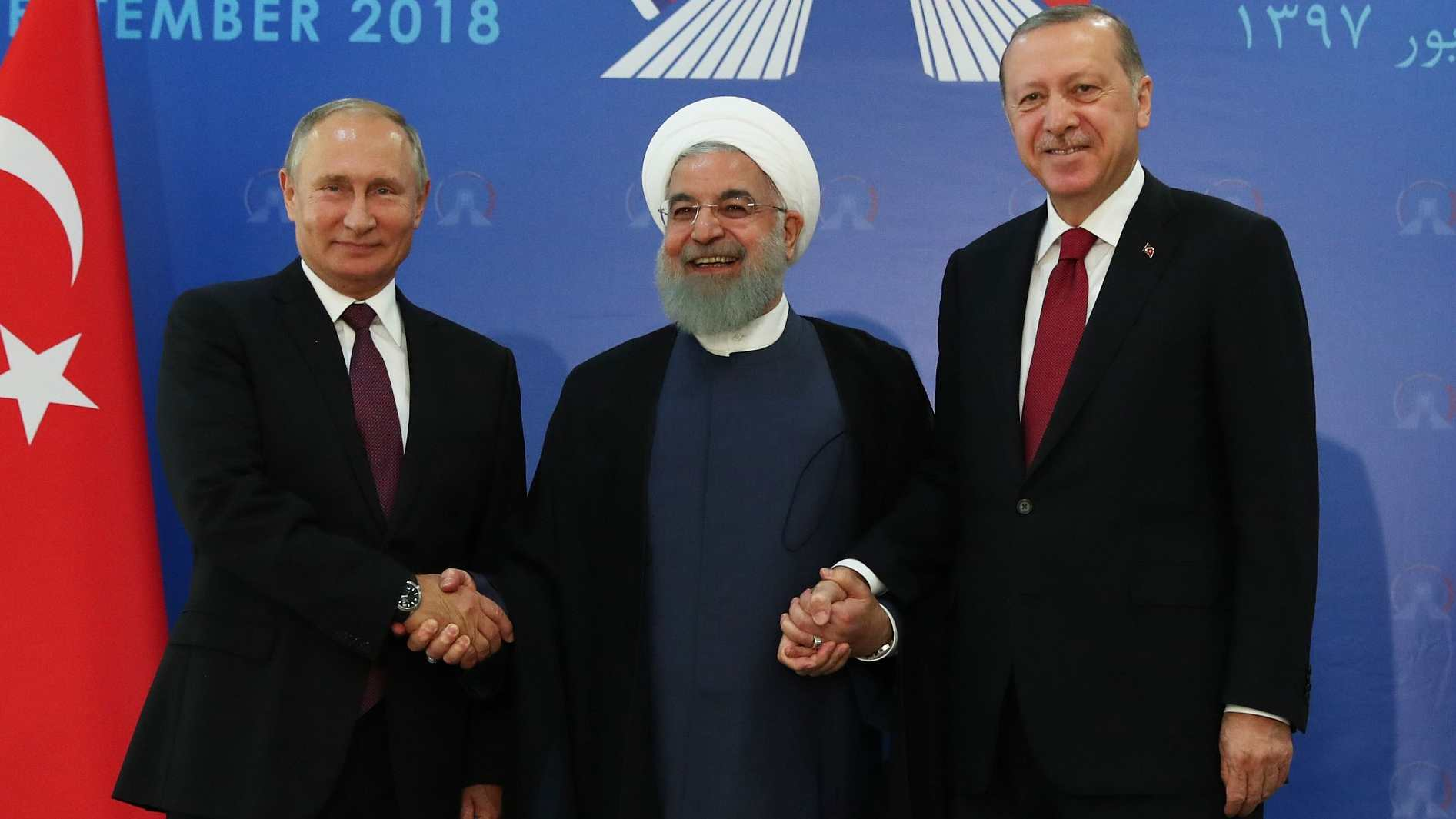 Iran, Russia and Turkey agree to work 'in spirit of cooperation' over Idlib