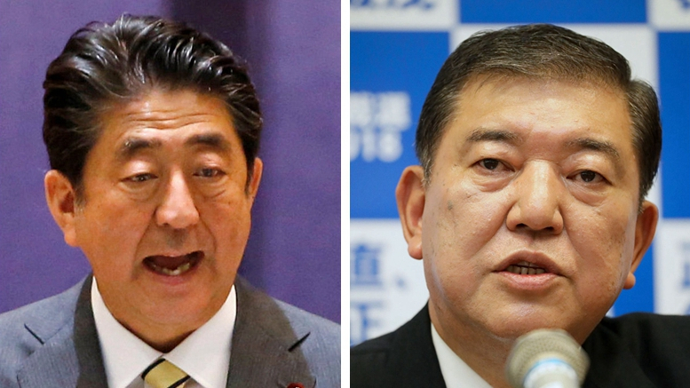 4 things to watch in the 2-way race for Japan's ruling party election