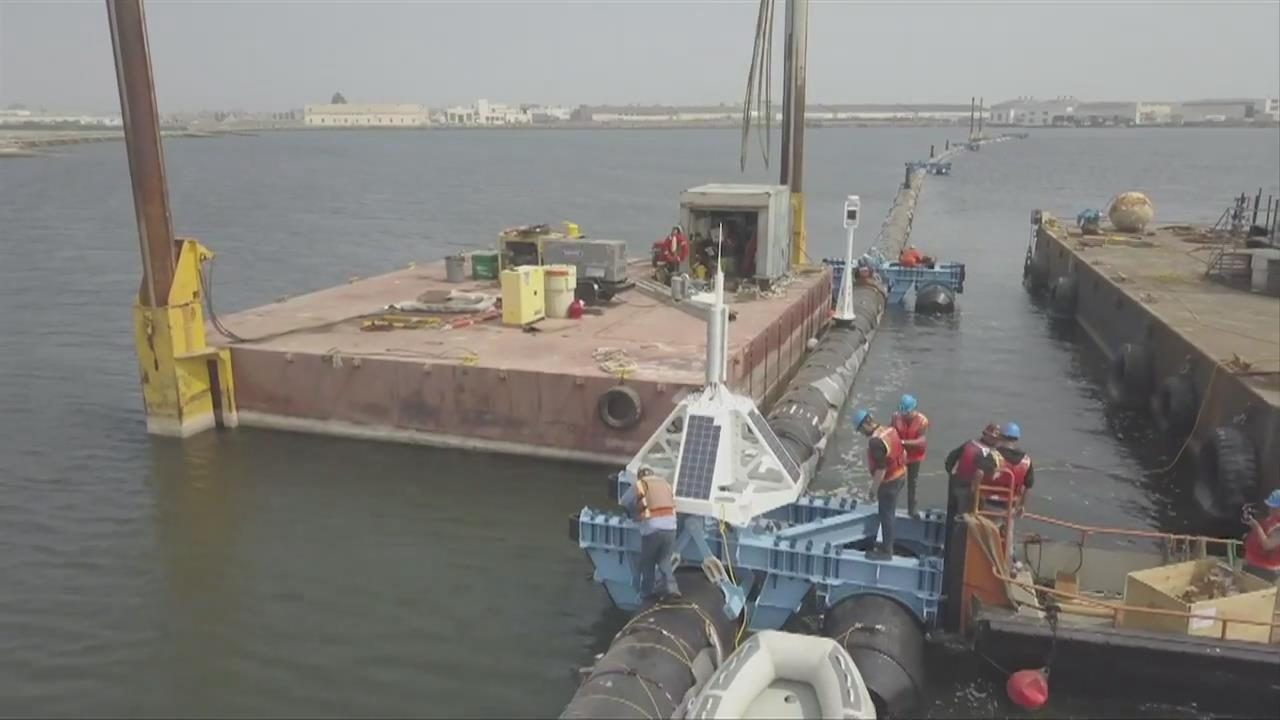 First of its kind Ocean Cleanup system readies to launch