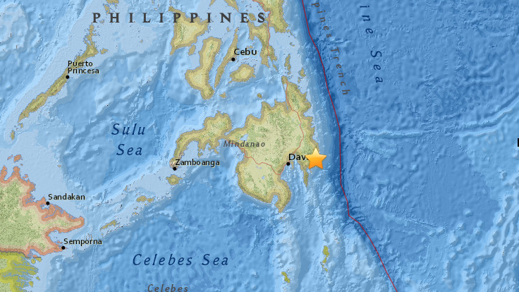 6.4-magnitude earthquake strikes southern Philippines