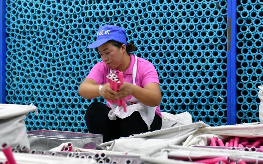 Textile technology industrial park set up to provide more jobs for locals in China's Ningxia