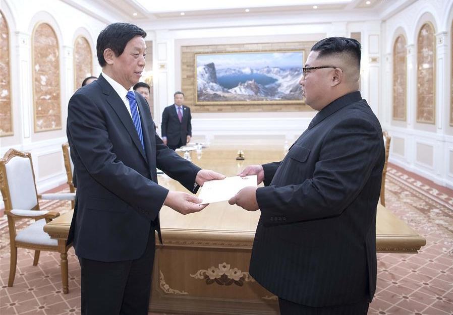 China's top legislator presents Xi's letter to DPRK leader