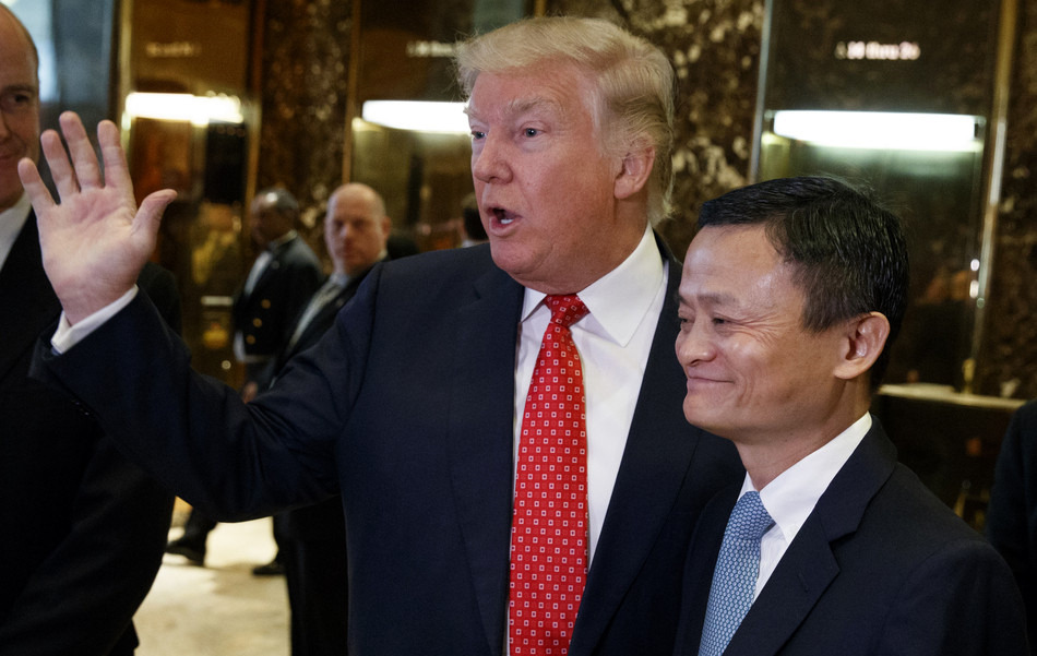 Alibaba's outgoing chair rubs influential elbows