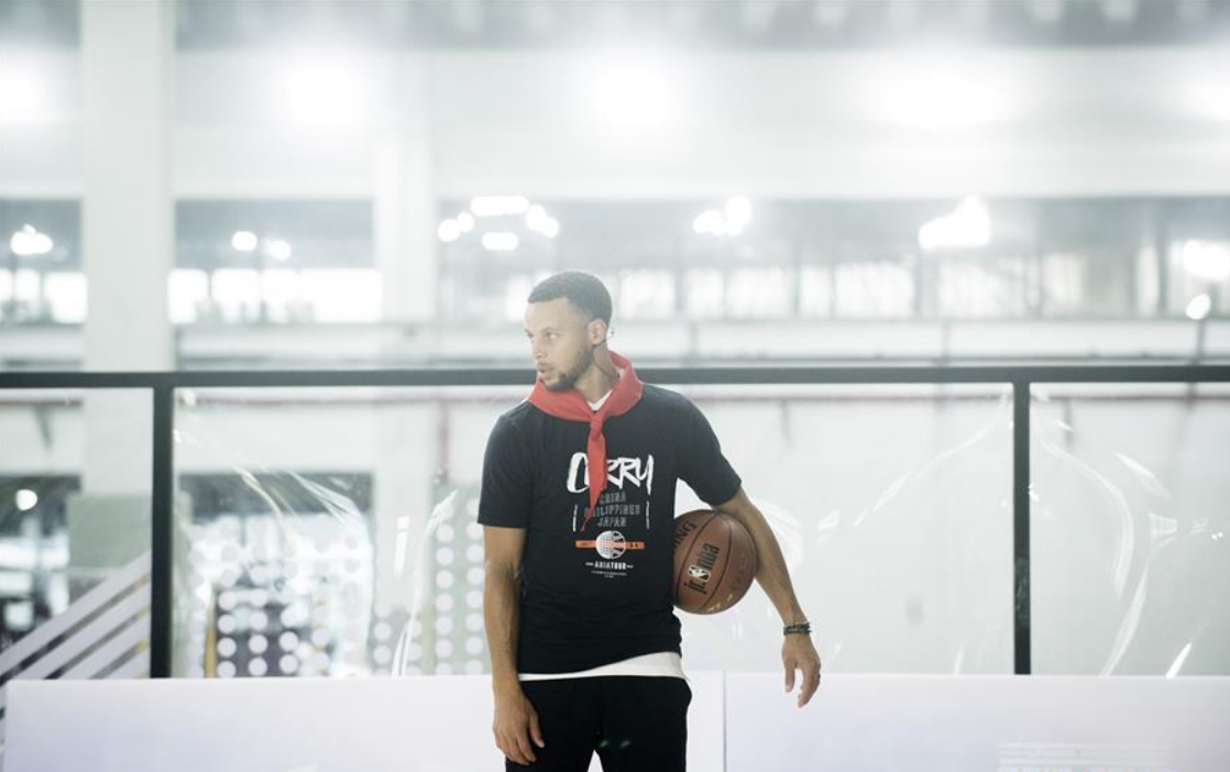 NBA player Stephen Curry starts China Tour