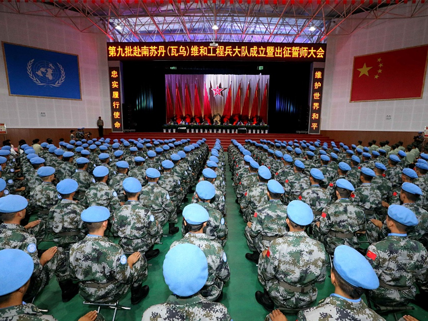 China sends 165 peacekeepers to South Sudan