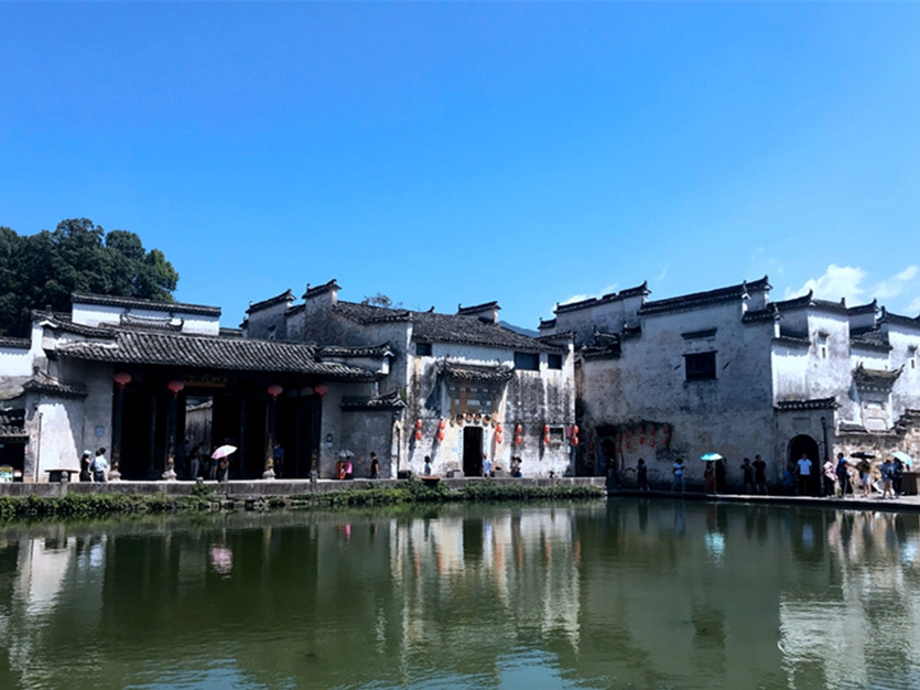 Tranquil Hongcun village in early September