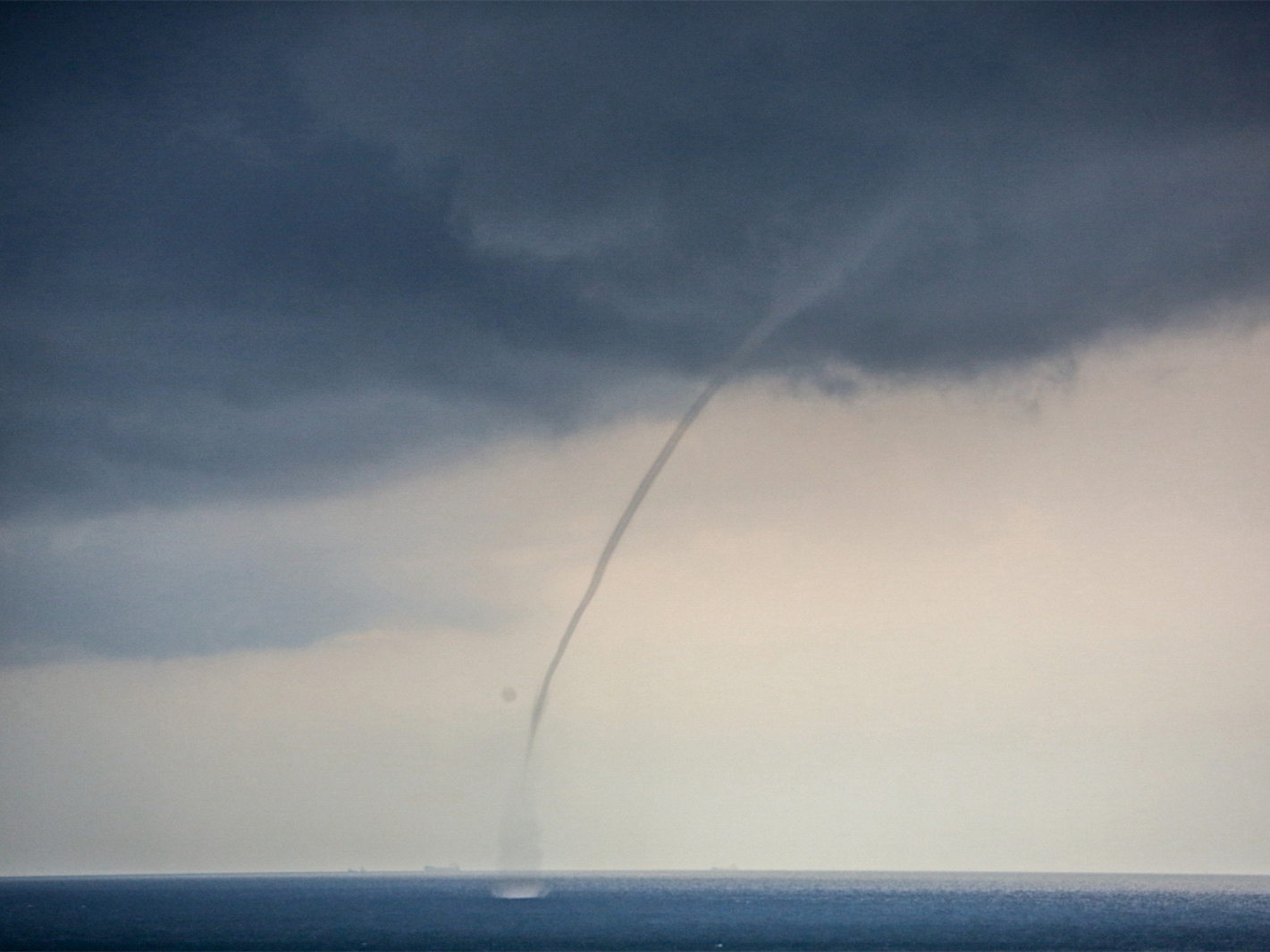 Waterspouts appear in China's Shandong Province