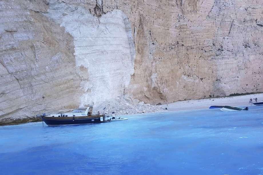 Three cruise ships overturn in Greece's Navagio Beach
