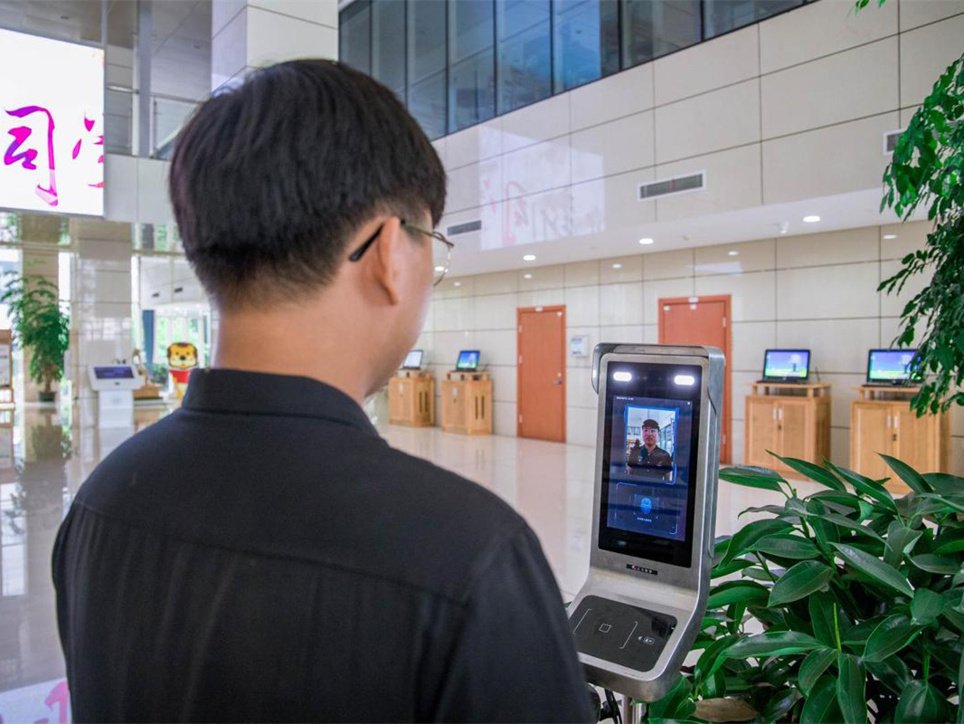 Students use face-recognition to enter dormitories