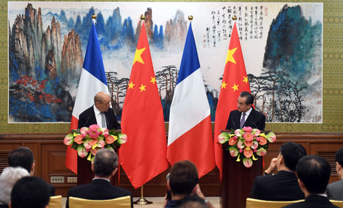 China, France pledge to deepen cooperation