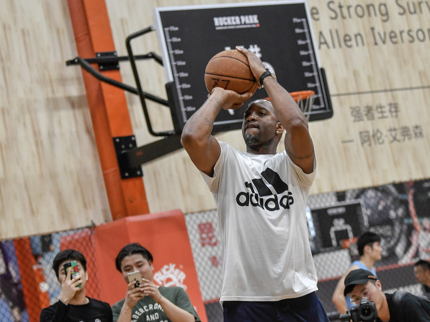Former NBA star Tracy McGrady in China for a promotional event