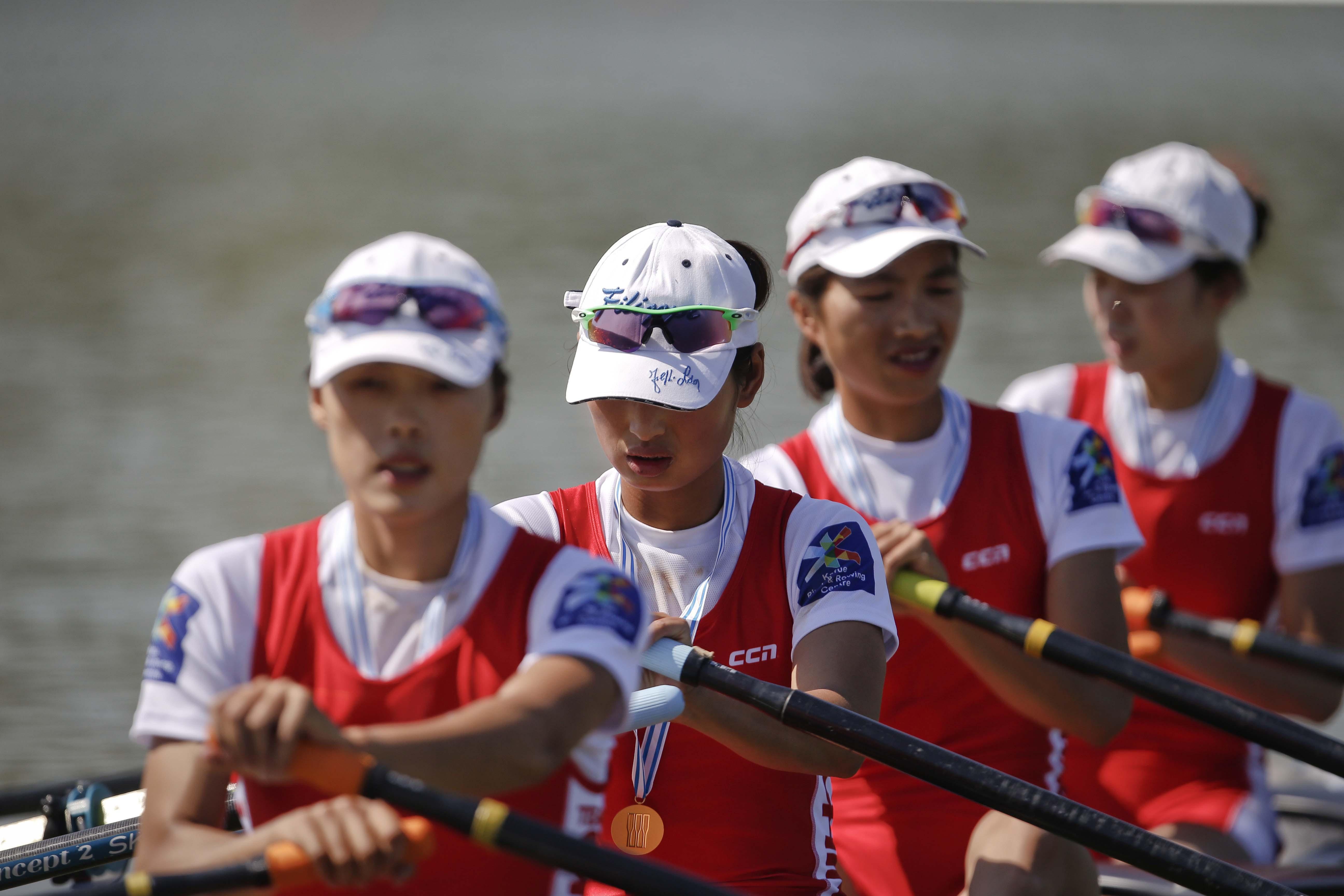 China won the gold medal at the World Rowing Championships