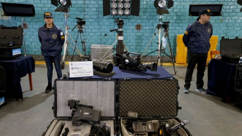 Argentina seizes costly film equipment stolen from Hollywood