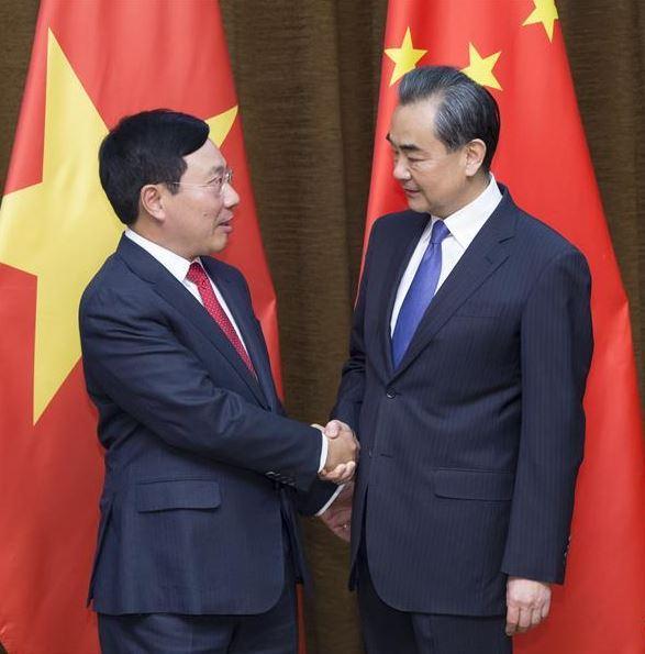 China's state councilor Wang Yi meets Vietnam's senior official