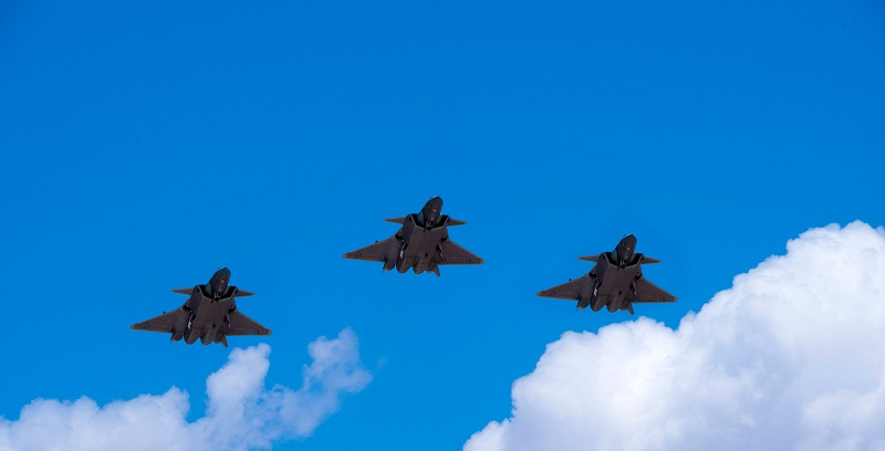 J-20 stealth fighter jets conduct sorties