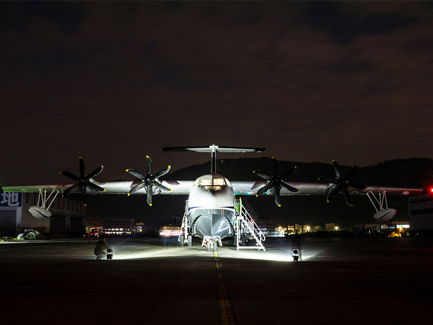 China-made large amphibious aircraft to enter high-speed test on water