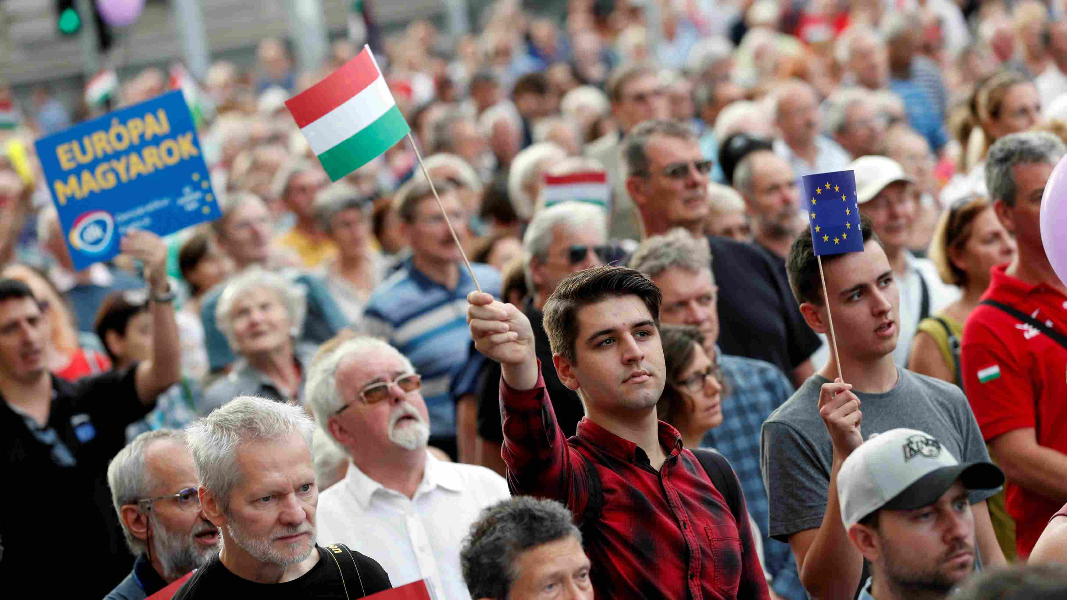 Hungarians protest against PM Orban after EU ruling