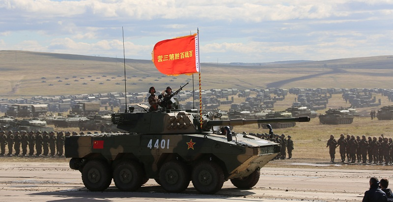 """Military Parade held in Russian """"Vostok-2018"""" exercise"""