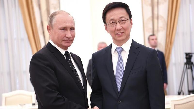 Chinese vice premier meets Putin, vowing to further advance bilateral ties